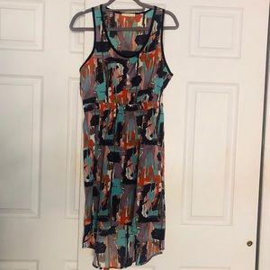 Abstract Print Hilo Tank Dress